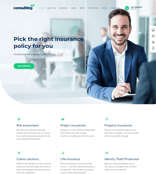 Consulting Best Finance WordPress Themes