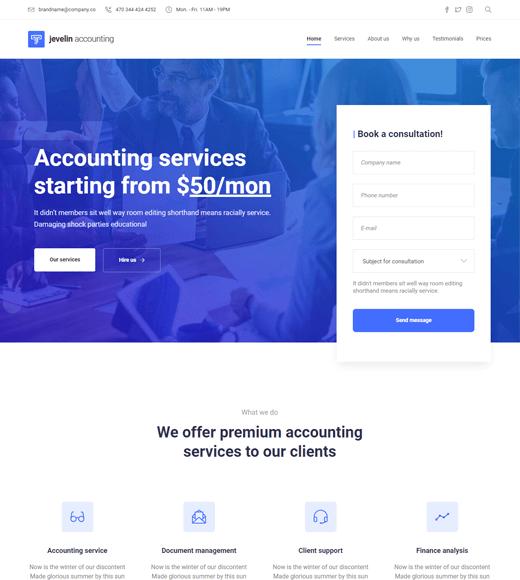 Jevelin Finance Business WordPress Theme
