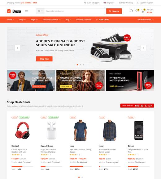 Besa Best Multi-vendor WordPress Theme Demo
