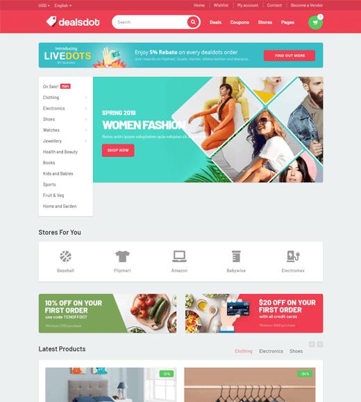 Dealsdot WordPress WooCommerce Multi-vendor Theme Demo
