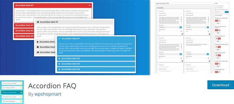 Accordion FAQ Best WordPress FAQ Plugin