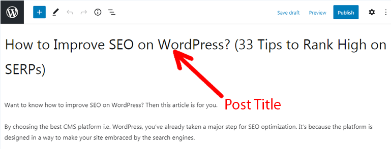 Writing Catchy Post Title How to Improve SEO on WordPress
