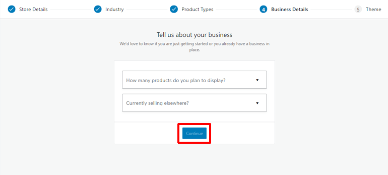 Add Business Details to Start Your Online Store