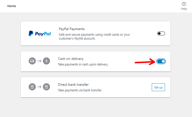 Enable Cash on Delivery Option