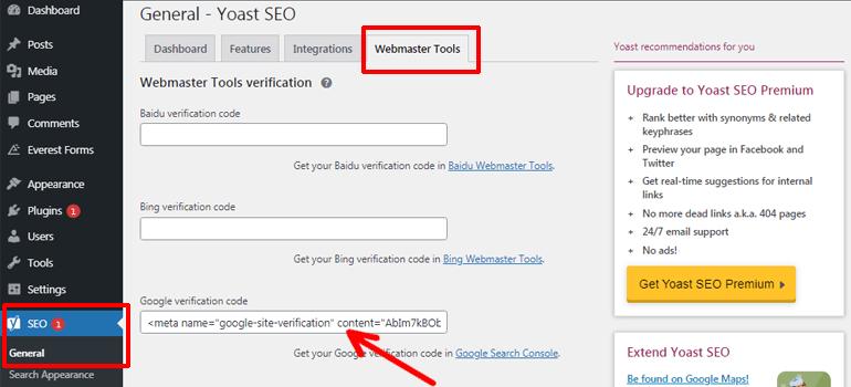 Copy and Paste Google Verification Code