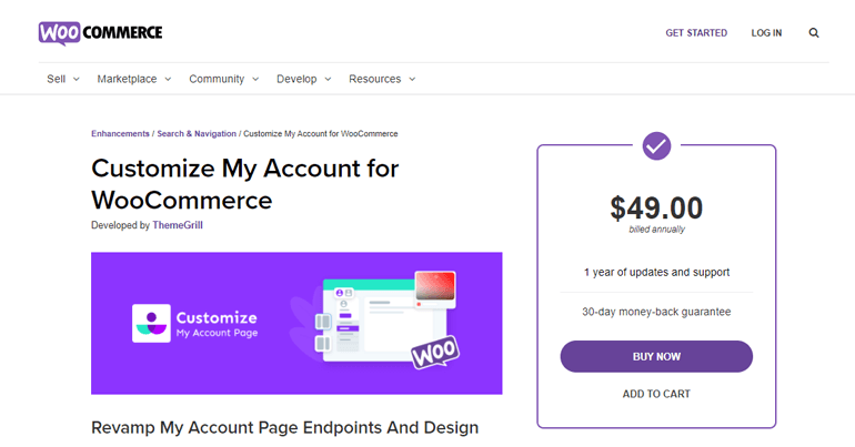 Customize My Account for WooCommerce Plugin