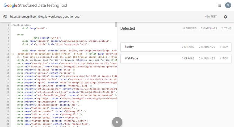 Google Structured Data Schema