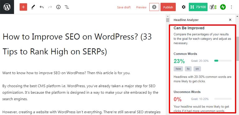 Headline Analyzer Tool How You can Improve SEO on WordPress