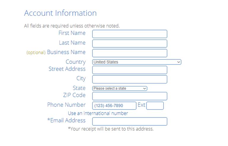 WooCommerce Hosting Account Information