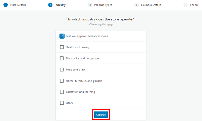 Indudtry Detail to Create eCommerce Website