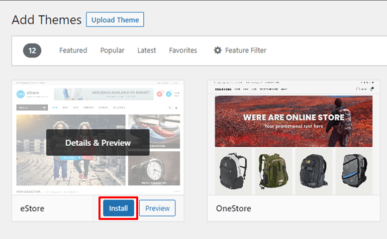Install Theme on Your eCommerce Website