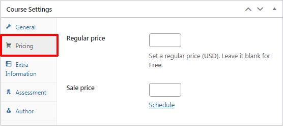 LearnPress Pricing Settings
