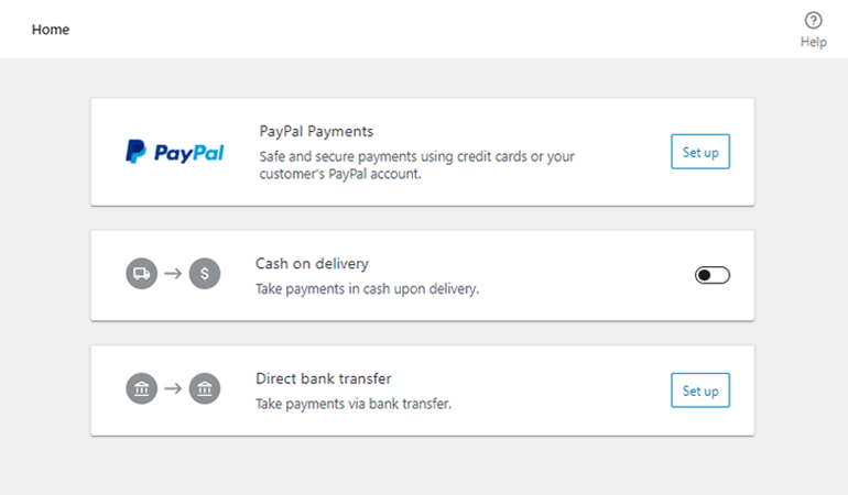 Payment Options for eCommerce Website