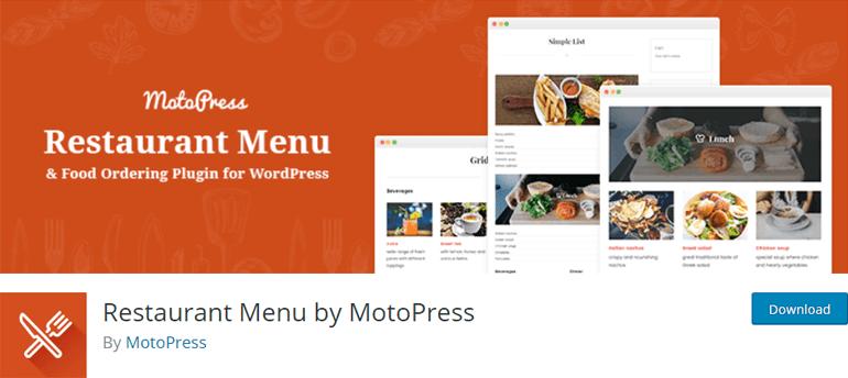 Restaurant Menu by MotoPress Best Restaurant Menu Plugin for WordPress