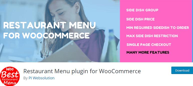 Restaurant Menu for WooCommerce