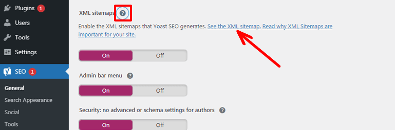 See the XML Sitemap