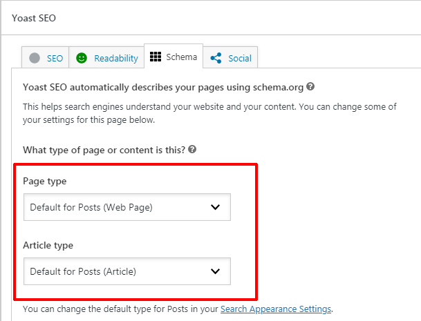 Setting Page and Article Type