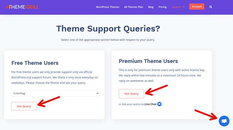 ThemeGrill Themes Support