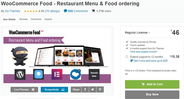 WooCommerce Food Best Premium Restaurant Menu Plugin for WordPress