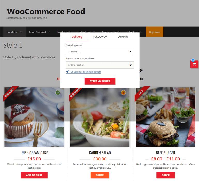 WooCommerce Food Demo