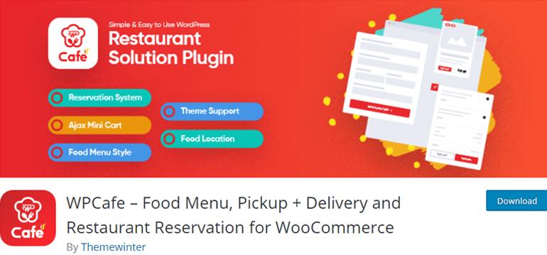 WPCafe Best Restaurant Menu plugin for WordPress