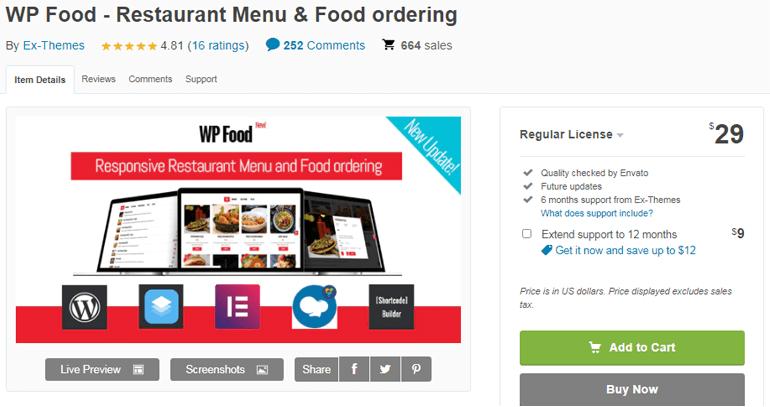 WP Food Pro Best WordPress Restaurant Menu and Food Ordering Plugin