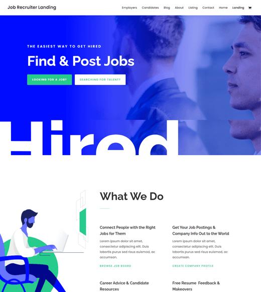 Divi Job Board WordPress Themes