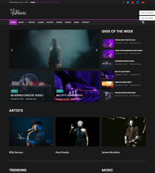 ColorMag Music WordPress Magazine Theme