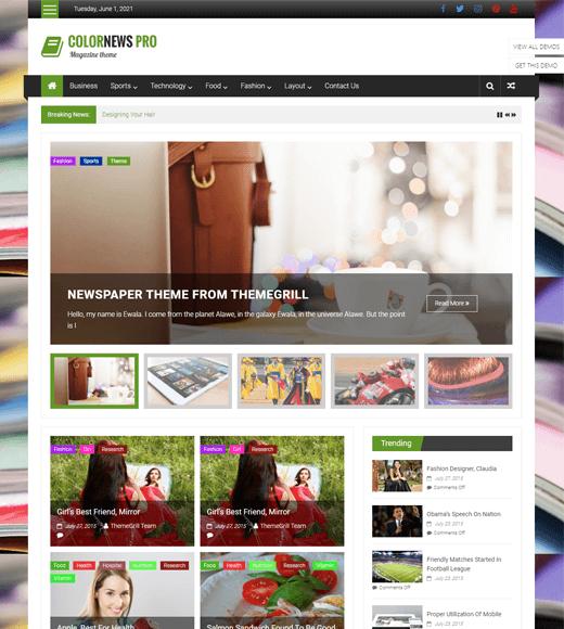 ColorNews Best WordPress Magazine Theme