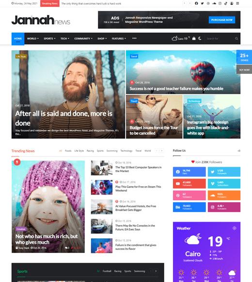 Jannah Best WordPress Theme For News Magazine