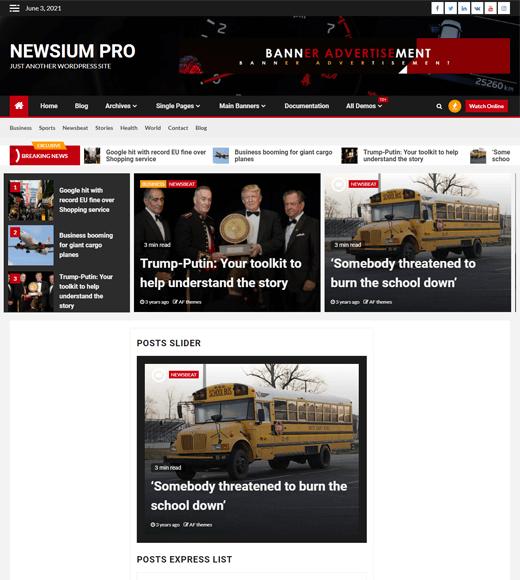 Newsium WordPress Magazine Theme