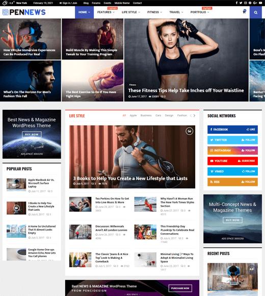 PenNews Best WordPress Magazine Themes