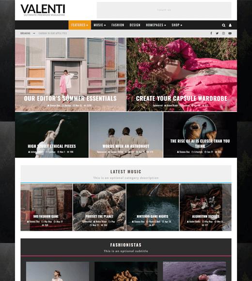 Valenti Best WordPress Magazine Theme