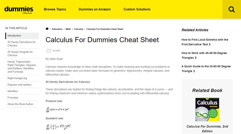 Cheat Sheet Magazine Article