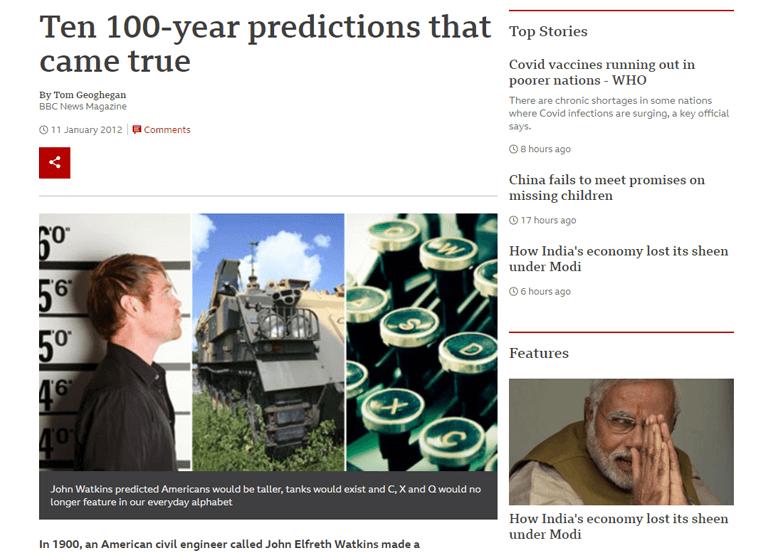 Prediction Magazine Article