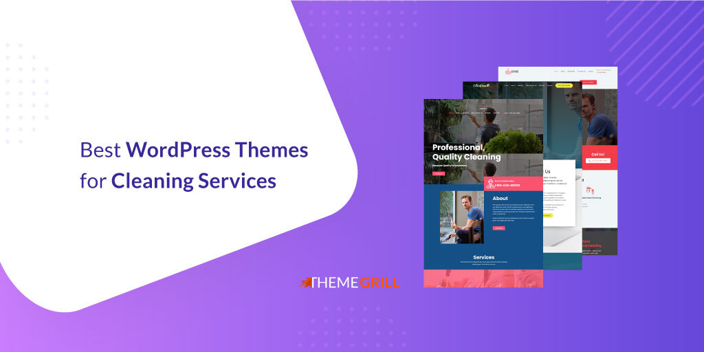 WordPress Themes for Cleaning & Laundry Services