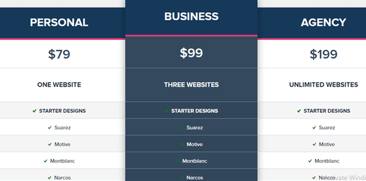Best Place to Get WordPress Themes   Tesla Themes Pricing Plan