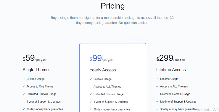 Best Place to Get WordPress Themes  aThemes Pricing Plans