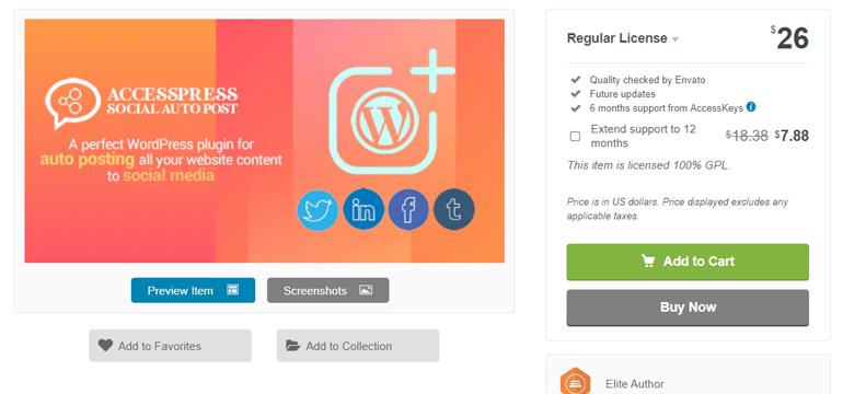 AccessPress Social Auto Post