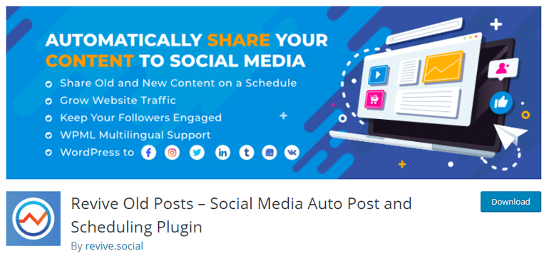 Revive Old Post Best Social Media Auto Post WordPress Plugin