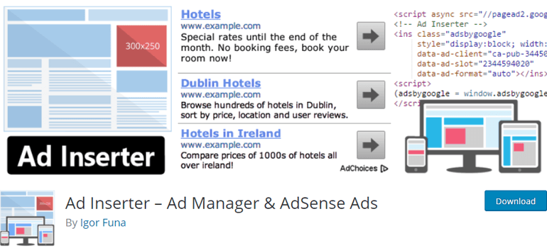 Ad Inserter Place Ads in WordPress