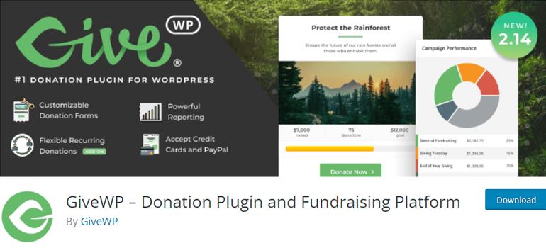 GiveWP WordPress Donation Plugins