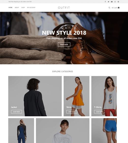 Customify Free WordPress Shop Them