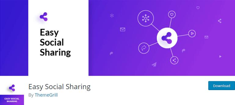 Complemento de WordPress fácil de compartir en redes sociales