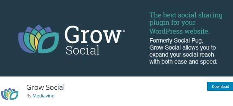Complemento Grow Social WordPress