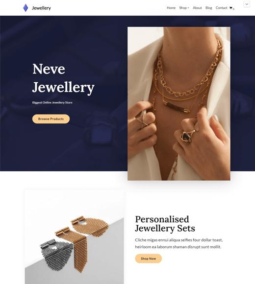 Neve Free WordPress Shop Theme