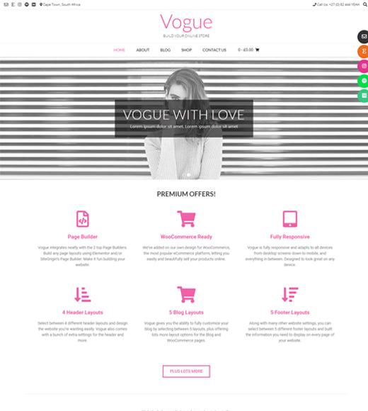 Vogue Free eCommerce WordPress Theme